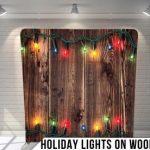 HolidayLightsOnWood